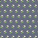 Panda - emoji Muster 80 stock abbildung