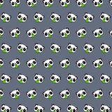 Panda - emoji pattern 80 stock illustration