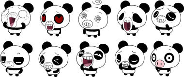 Panda Emoticon Stockfoto