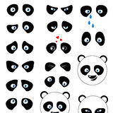 Panda emotions eyes Royalty Free Stock Image
