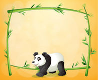 A panda and the empty green frame Stock Image