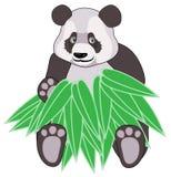 Panda en bambou Images stock