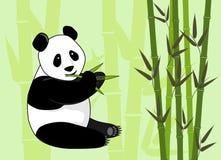 panda en bambou de consommation illustration libre de droits