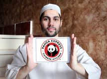 Panda Express-het embleem van de restaurantketting stock foto