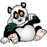panda för bambubjörnfilial royaltyfri illustrationer
