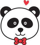 Panda face Stock Image