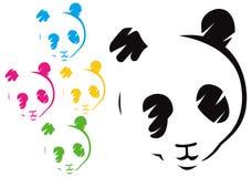 Panda face stock illustration