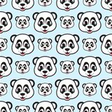 Panda face expretion cartoon seamless pattern for background and wallpaper. Animal wildlife vector background. Vector illustration EPS.8 EPS.10 Royalty Free Illustration