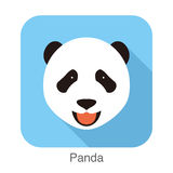 Panda face flat icon design. Animal icons series. Panda face flat icon design. Animal icons series, vector illustration Royalty Free Stock Photo