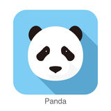 Panda face flat icon design. Animal icons series. Vector illustration Royalty Free Stock Photos