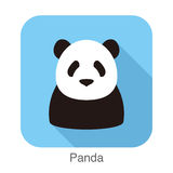 Panda face flat icon design. Animal icons series. Panda face flat icon design. Animal icons series, vector illustration Stock Image