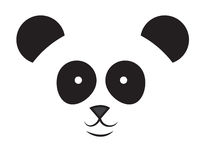 Panda Face Royalty Free Stock Image