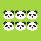 Panda Faces émotif Photographie stock