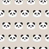 Panda Faces Seamless Pattern Image stock