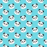 Panda Faces Seamless Pattern de sourire Photographie stock libre de droits