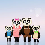 Panda Family Photos libres de droits