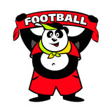 Panda fan logo. Football animal fun sign Isolated on white background Stock Photo