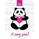 Panda feliz del d Imagen de archivo