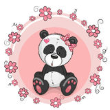 Panda with flowers Royalty Free Stock Photography
