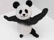 Panda fluffy mascot 3d Royalty Free Stock Image