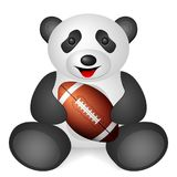 Panda football ball Stock Images