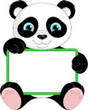 Panda Frame. Image cute panda frame on white background Stock Photography