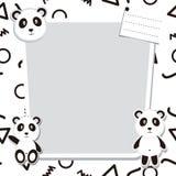 Panda Frame Vector sveglio Fotografia Stock Libera da Diritti
