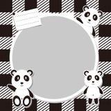 Panda Frame Vector sveglio Immagini Stock