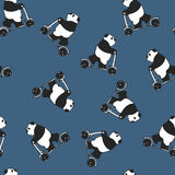 Panda gigante melancólica divertida libre illustration