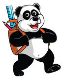 Panda go to School Royalty Free Stock Images