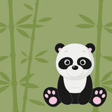 Panda on green background Stock Photography