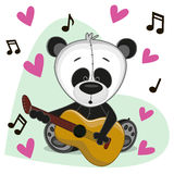 Panda with guitar Royalty Free Stock Image