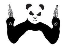 Panda with guns. On white background Stock Image