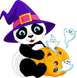 Panda Halloween Immagine Stock