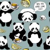 Panda has a cold Royalty Free Stock Photography