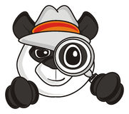 Free Panda Hat Holding A Magnifying Glass Royalty Free Stock Image - 69647676