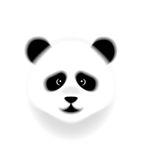Panda head. Panda bamboo bear cartoon head Stock Photography