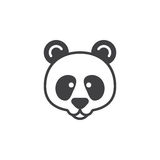 Panda head icon vector, filled flat sign Royalty Free Stock Images