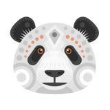 Panda Head Logo Vector decoratief Embleem Royalty-vrije Stock Foto's
