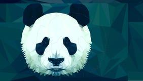 Panda head polygon isolated Stock Photography