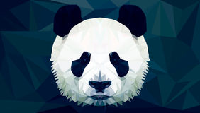 Panda Head Polygon Vector Imágenes de archivo libres de regalías
