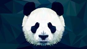 Panda Head Polygon Vector Foto de archivo libre de regalías