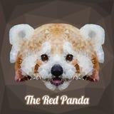 Panda Head Polygon Vetora vermelho Fotos de Stock Royalty Free