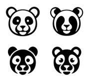 Panda head set Royalty Free Stock Image