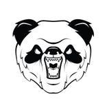 Panda Head Warrior vector illustration Royalty Free Stock Photography