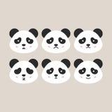 Panda Heads plat Image libre de droits