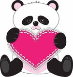 Panda Heart Stock Images