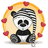 Panda with hearts Royalty Free Stock Photography