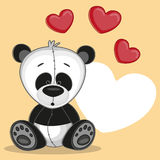 Panda with hearts Stock Image