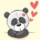 Panda and hearts Royalty Free Stock Images